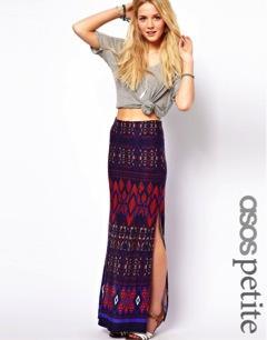 ASOS Maxi Skirt in Aztec Print