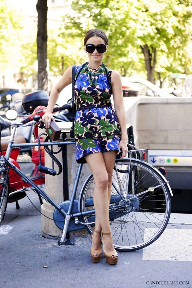 Street Style: Miroslava Duma | Prints + Statement Necklaces