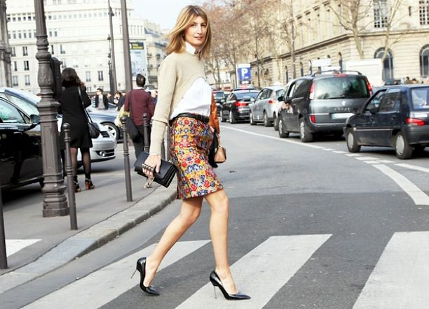 Street Style: Print Pencil Skirts