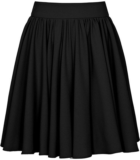 Reiss  Black Full Gathered Skirt