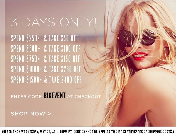 Shopping News: Shopbop Big Event Sale!
