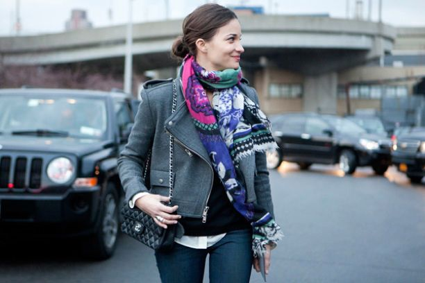 Street Style: Cropped Grey Jackets