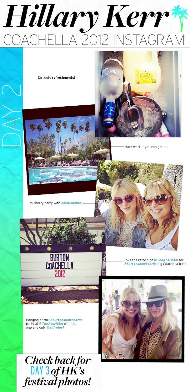 Hillary Kerr's Coachella Instagram: Day 2