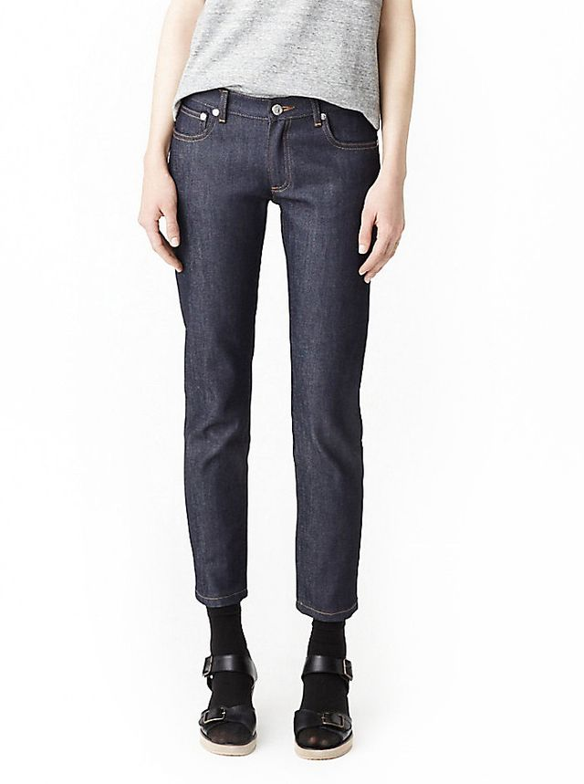 A.P.C. Cropped Raw Denim Jeans