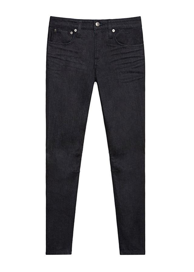 Helmut Lang Blue Raw Indigo Denim Ankle Jeans