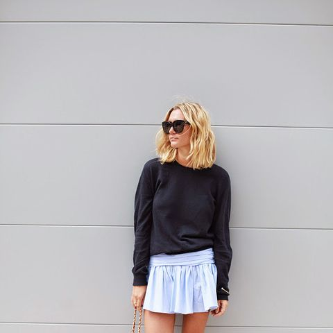 Sweater and Miniskirt