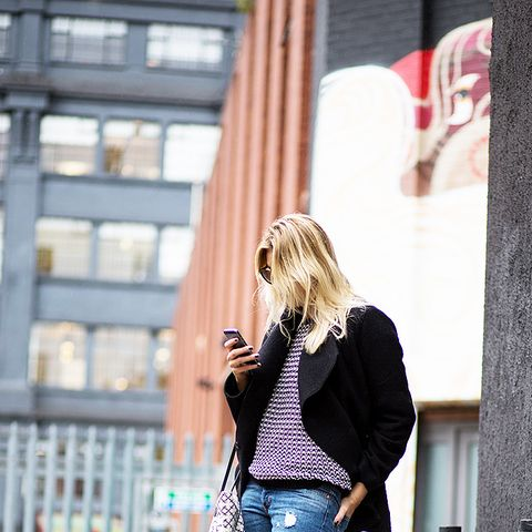 The Urban Spotter Distressed Jeans and Black Heels