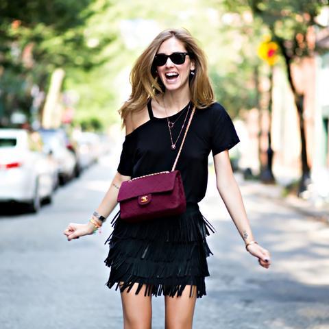 The Blonde Salad Fringe Skirt