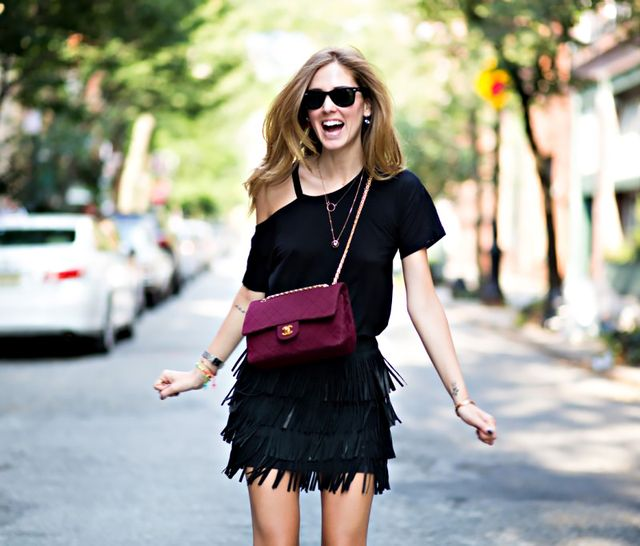 Basic T-Shirt + Fringe Skirt