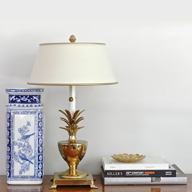 Etsy Vintage Brass Pineapple Table Lamp