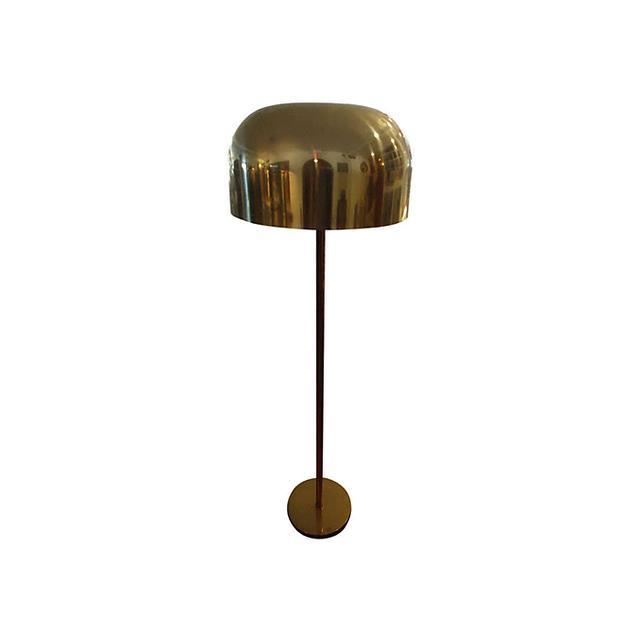 Laurel Lamp Company Vintage Brass Mushroom Floor Lamp