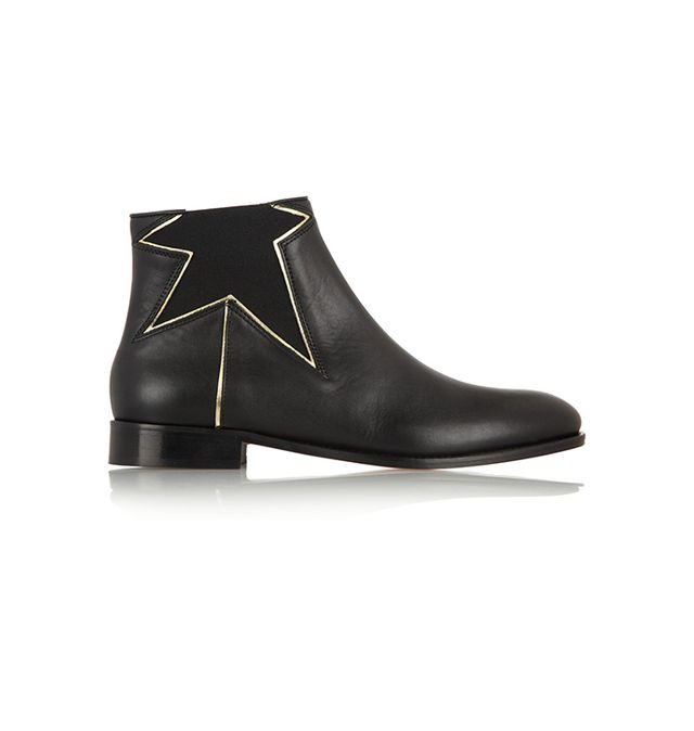 REDValentino Metallic Star Leather Boots