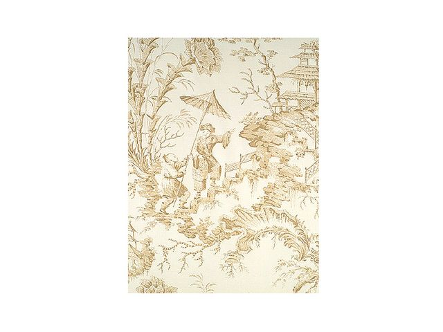 Scalamandre Pillement Toile Beige Wallpaper