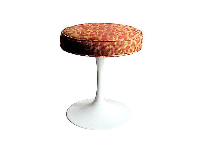 Flair New York Vintage Leopard Tulip Base Stool