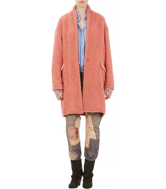 Isabel Marant Herringbone Wool Gabriel Blanket Coat