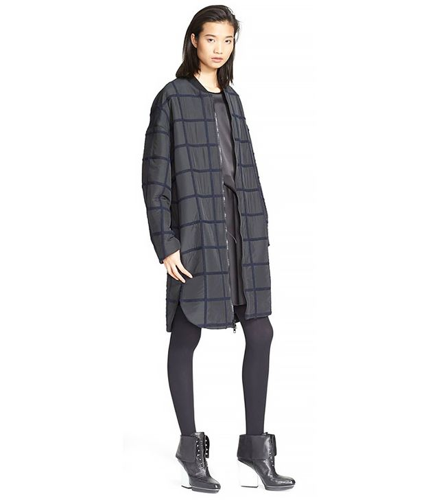 3.1 Phillip Lim Oversized Grid Bomber Coat