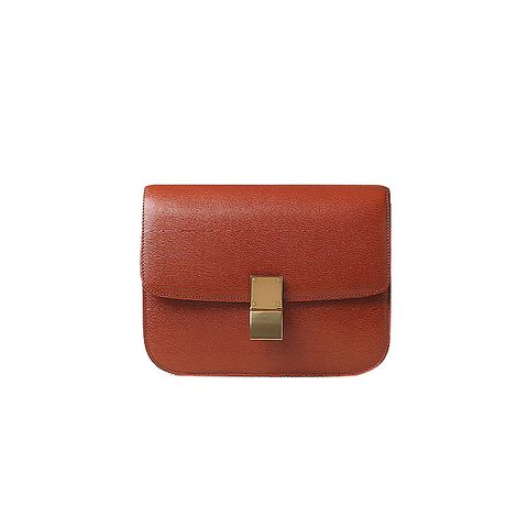 Leather 'Classic Box' Shoulder Bag