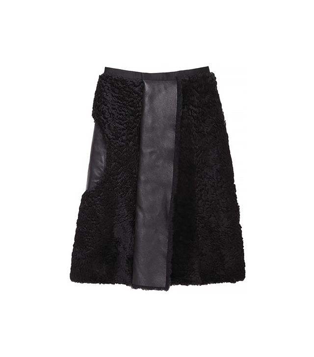 Acne Studios Moment Shearling Skirt