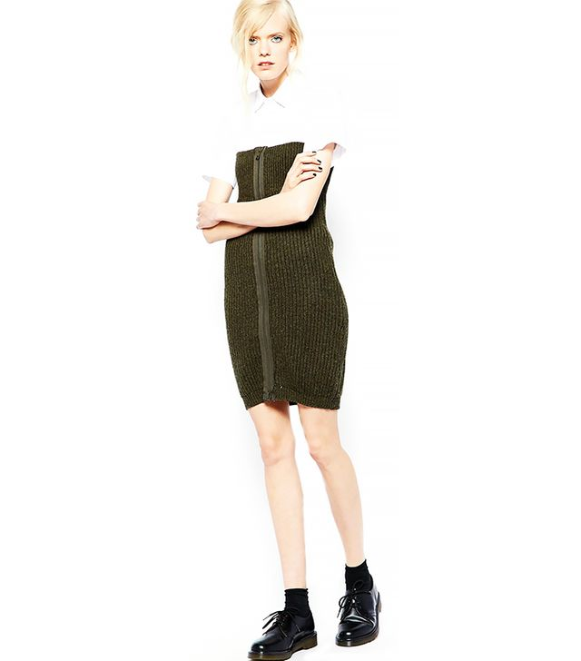 BACK By Ann-Sofie Knitted Body-Conscious Dress