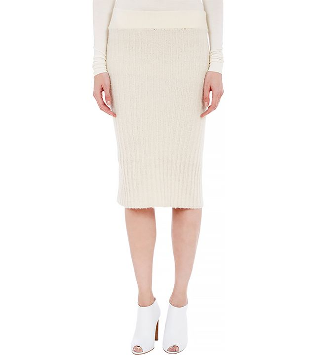 Edun Boucle Rib-Knit Pencil Skirt