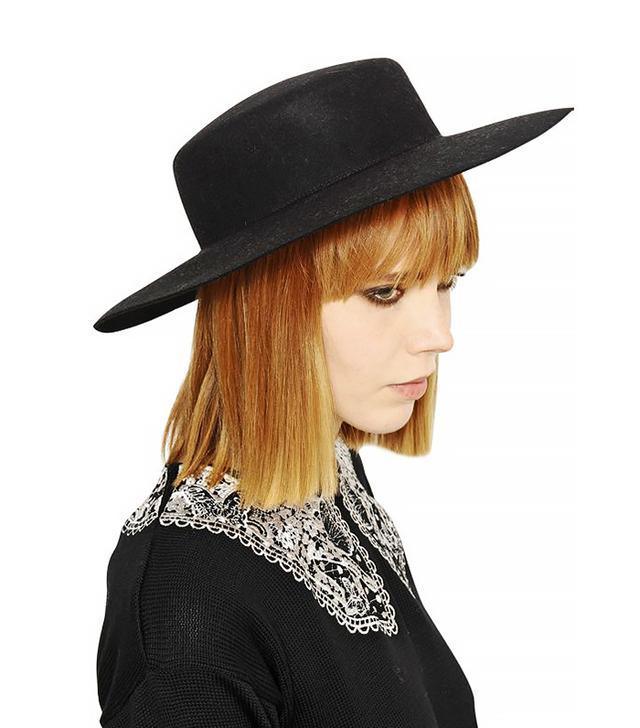 Vivetta Rabbit Fur Felt Wide-Brim Hat