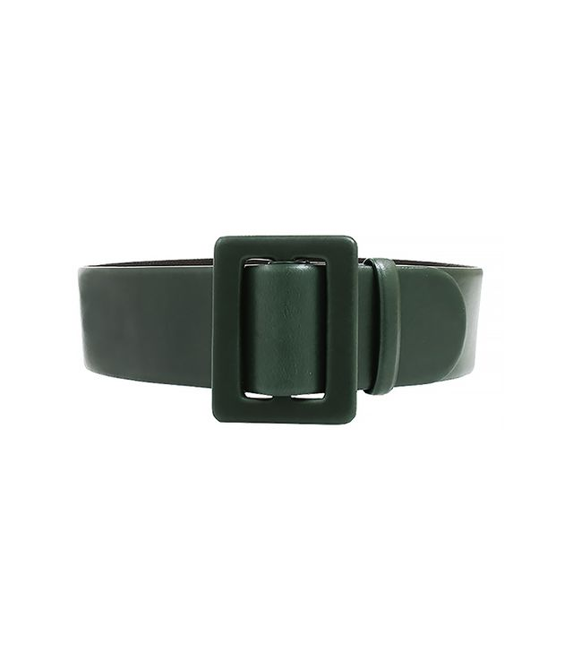 Oscar De La Renta Rectangle Buckle Wide Belt