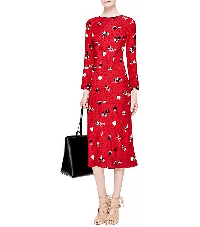 Piamita Andrea Printed Silk-Satin Dress
