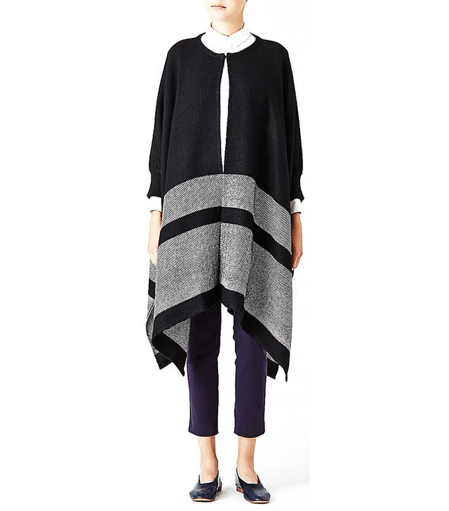 Apiece Apart Katz Stripe Weave Poncho