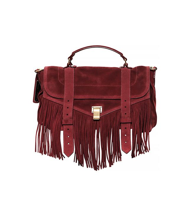 Proenza Schouler Medium PS1 Suede Satchel With Fringes