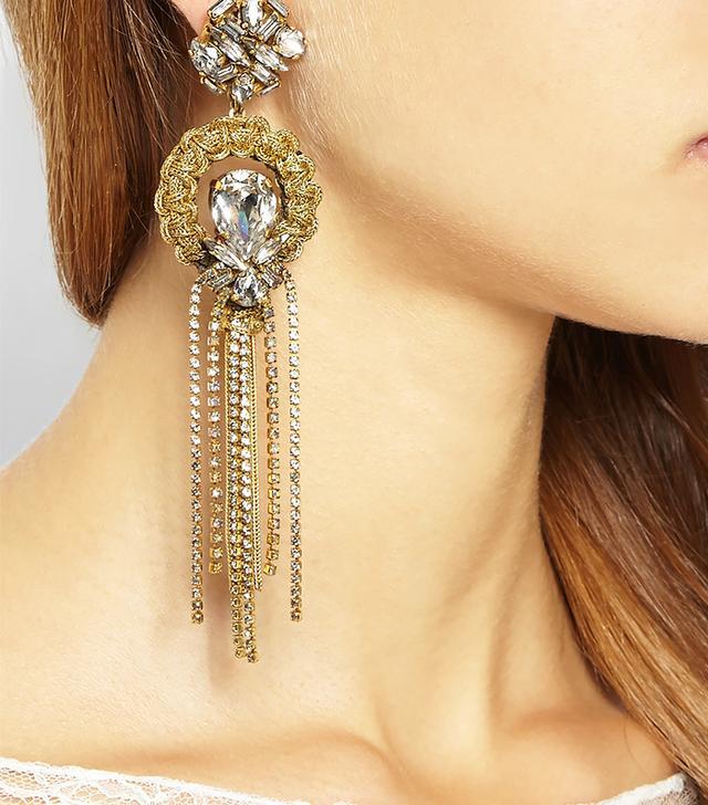 Erickson Beamon Damsel Gold-Plated Swarovski Crystal Earrings