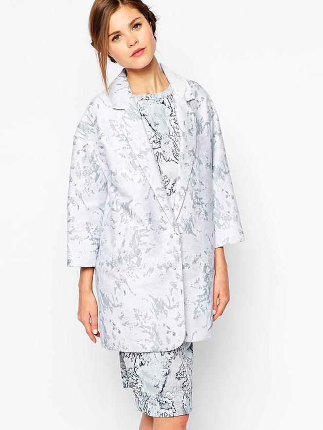ASOS Oasis Marble Jacquard Coat