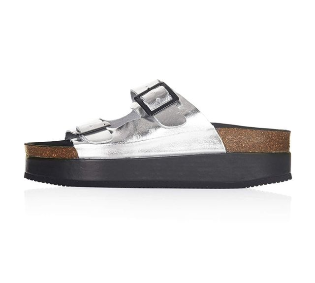 Topshop Fang Double Buckle Platforms