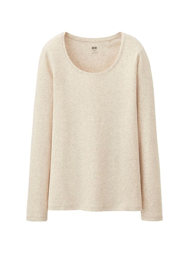 Uniqlo Supima Cotton Crew Neck Long Sleeve T-Shirt