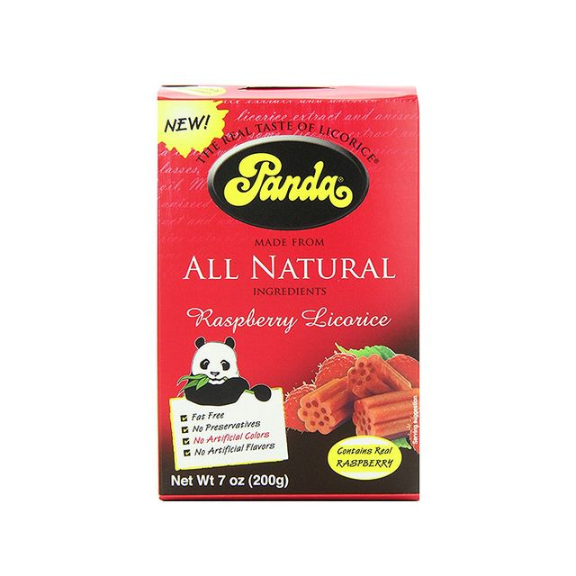 Panda All-Natural Raspberry Licorice Chews