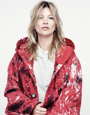 Kate Moss Poses In Bleach & Paint Splatter Looks For Another Magazine