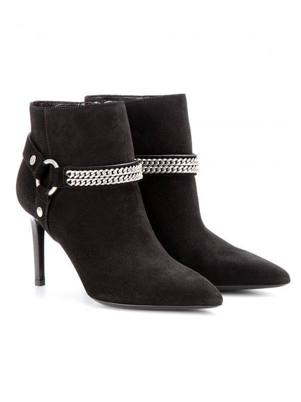 Saint Laurent Paris Suede Ankle Boots