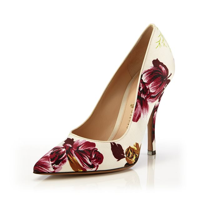 Palter DeLiso Fancy Pumps in Ivory Silk