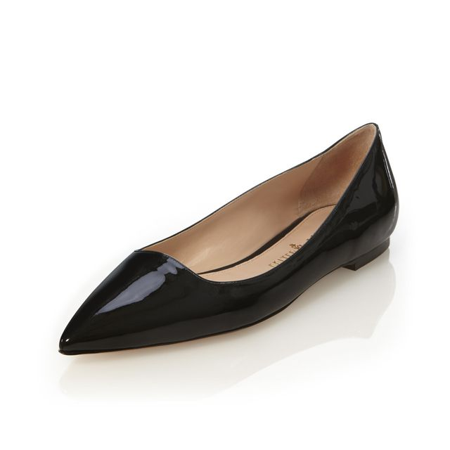 Palter DeLiso Vivienne Flats in Black Patent