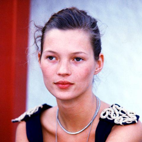 Kate Moss backstage in the early '90s.