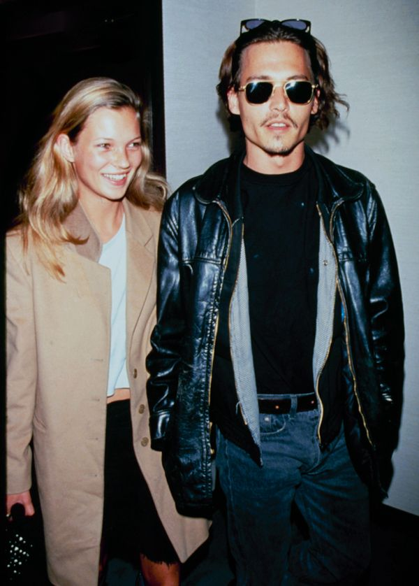 Moss with Johnny Depp.