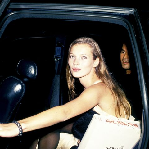 Kate Moss at a dinner party honouring Richard Avedon in 1993