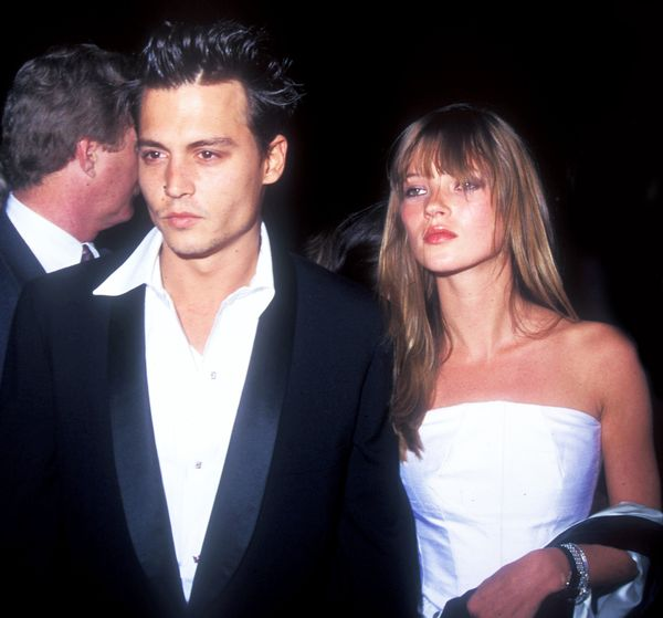 Moss and Johnny Depp in 1995.