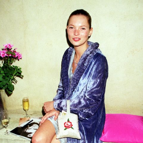 Kate Moss at a Vogue party in 1998 in London