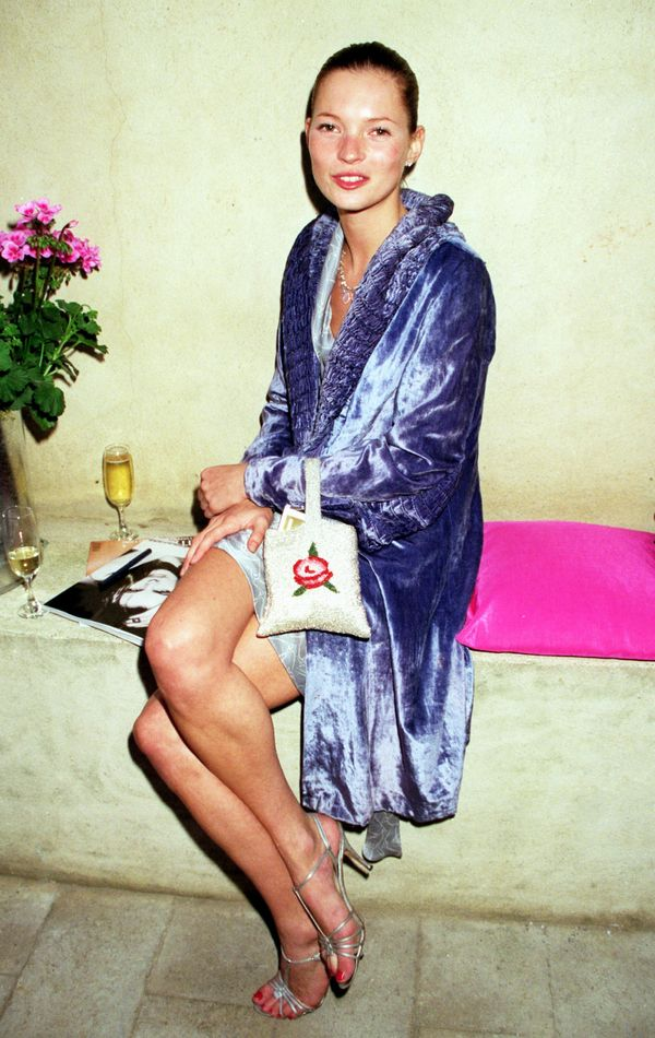 Moss at a Vogue party in 1998 in London.