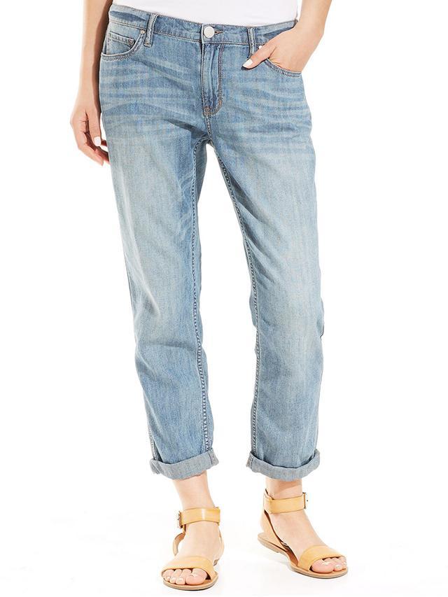 DKNY Straight-Leg Cuffed Jeans