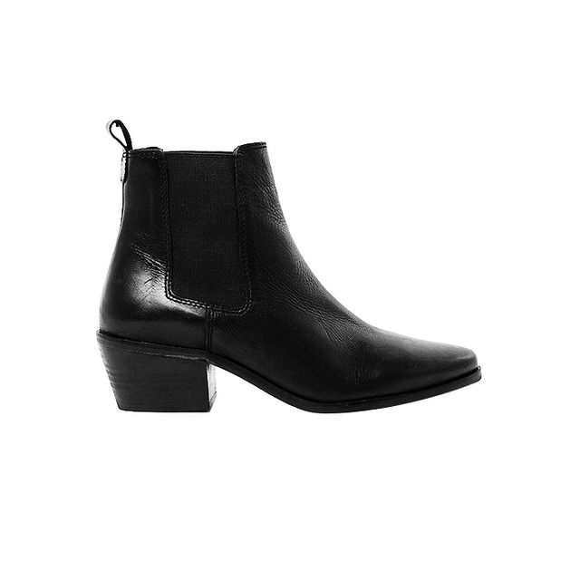 Dune Petra Black Pointed Chelsea Boots