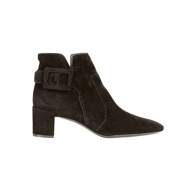 Roger Vivier Polly Suede Ankle Boots