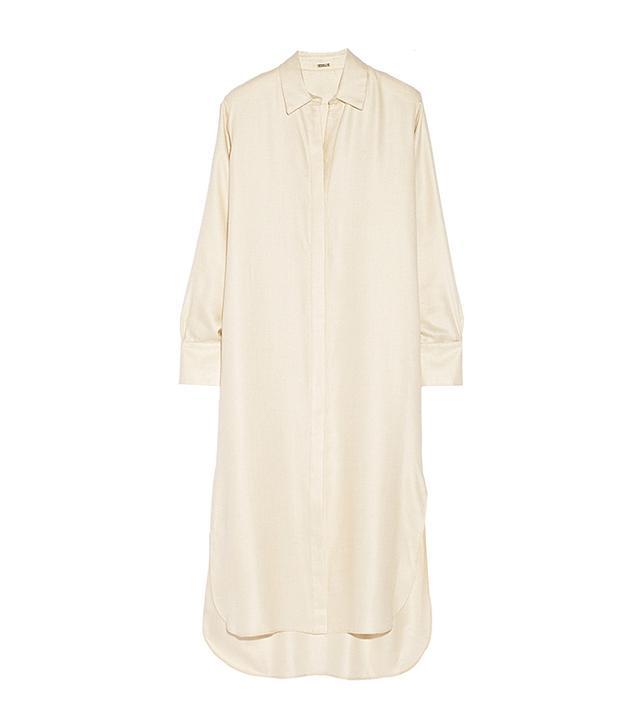 Adam Lippes Cashmere and Silk-Blend Twill Shirt Dress