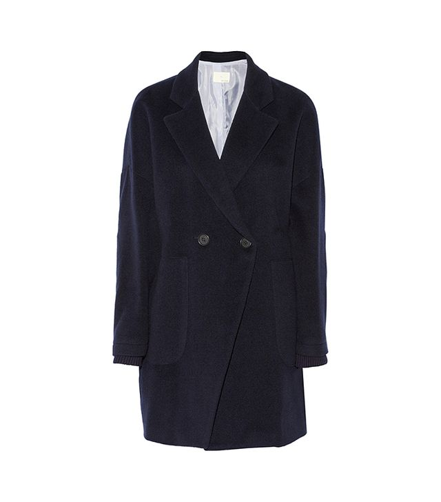 Band of Outsiders Oversized Wool Coat in Navy