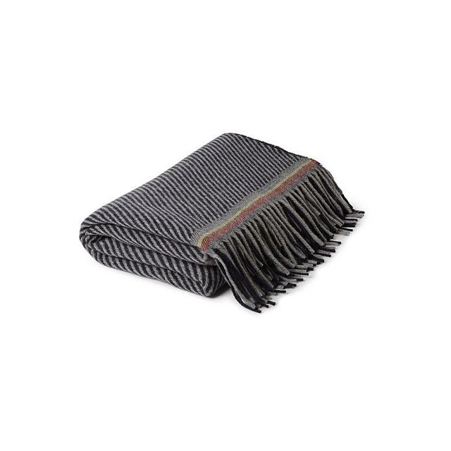 Paul Smith Patterned Cashmere and Wool-Blend Blanket